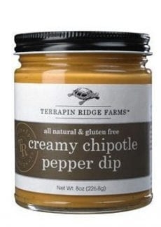 jar of chipotle pepper dip