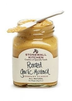 jar of roasted garlic mustard
