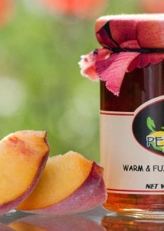 warm&fuzzy peach jam