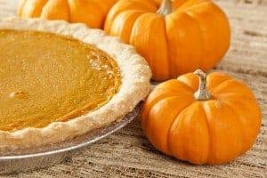 Fresh Homemade Pumpkin Pie made for Thanksgiving