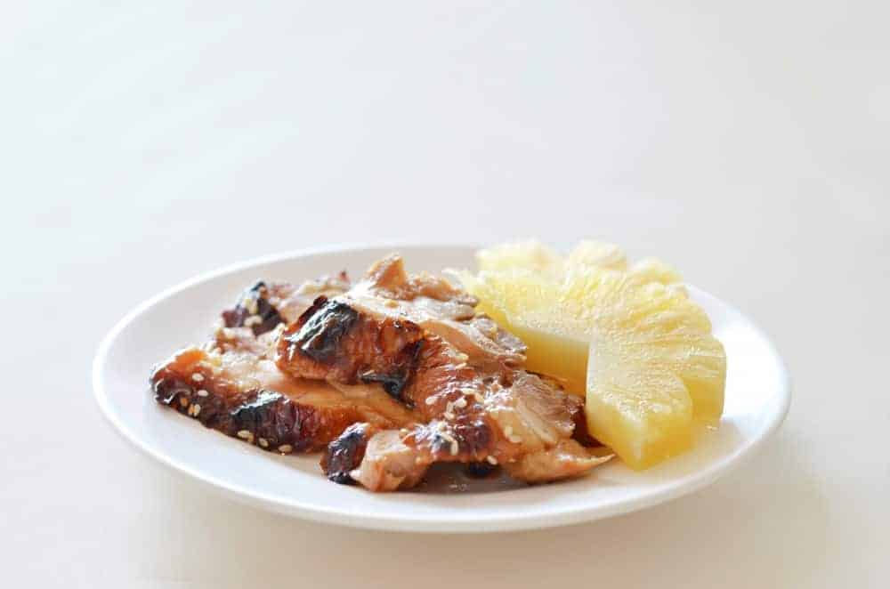 Teriyaki Chicken with fresh pineapple - Japanese Food